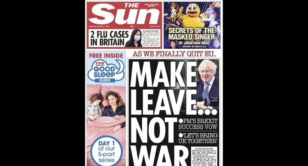 """Dejar... no es igual a guerra"""", afirma el diario sensacionalista The Sun. (The Sun)"""
