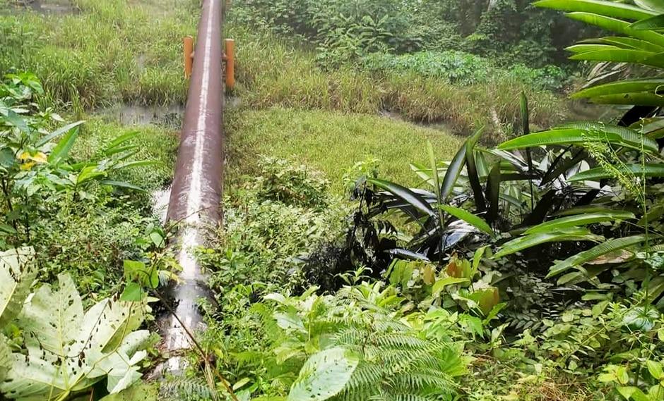 Oleoducto Norperuano registró un nuevo derrame tras ser atacado en la mañana, informó Petroperú