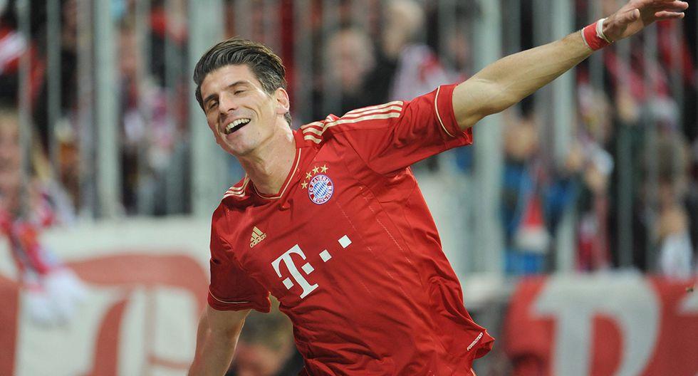 El hispano-alemán Mario Gómez ha sumado 169 tantos. Sigue jugando en Stuttgart. (Foto: EFE)