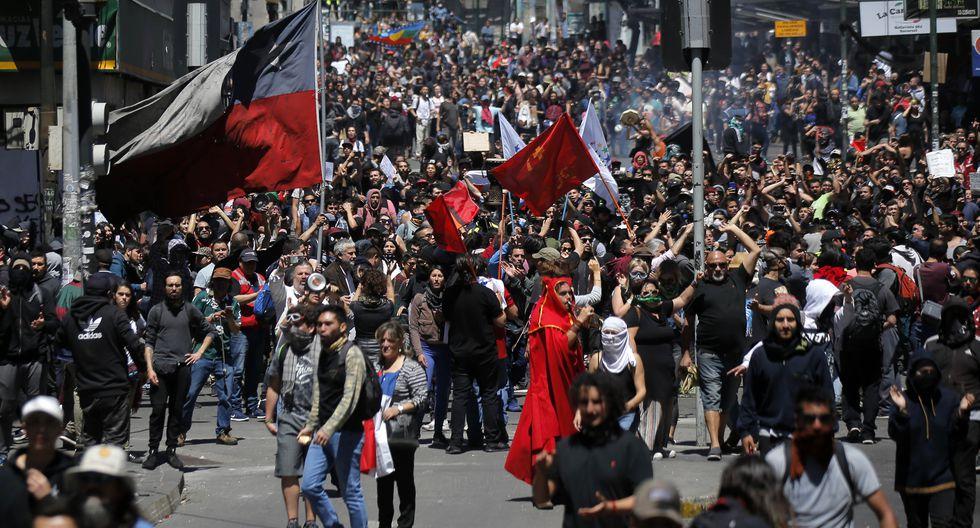 Las protestas en Chile se reanudaron tras un fin de semana violento. (Foto: AFP)
