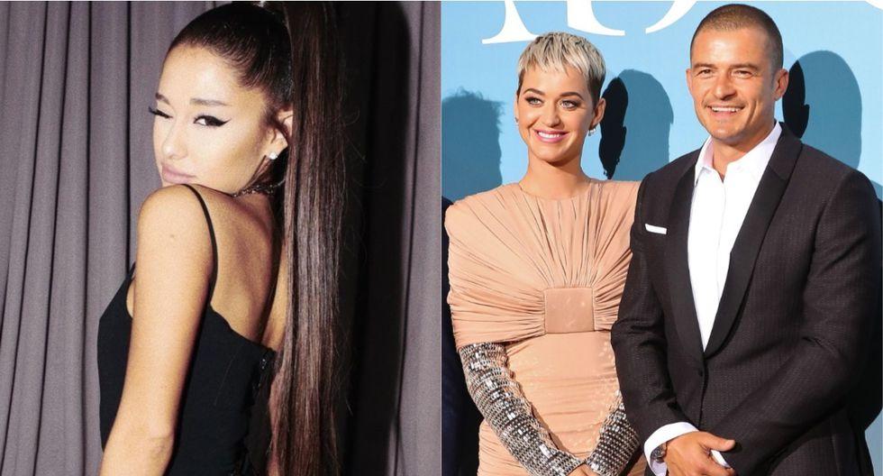Ariana Grande y el notable gesto que tuvo con Katy Perry y Orlando Bloom. (Foto: Instagram/AFP)