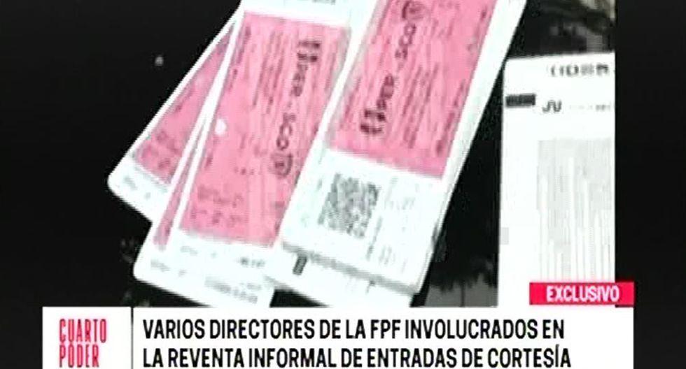 Agustín Lozano y un nuevo informe sobre el caso de reventa de entradas en la FPF. (Foto: Cuarto Poder)