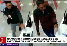 Carabayllo: capturan a sujetos presuntamente implicados en robo a óptica | VIDEO