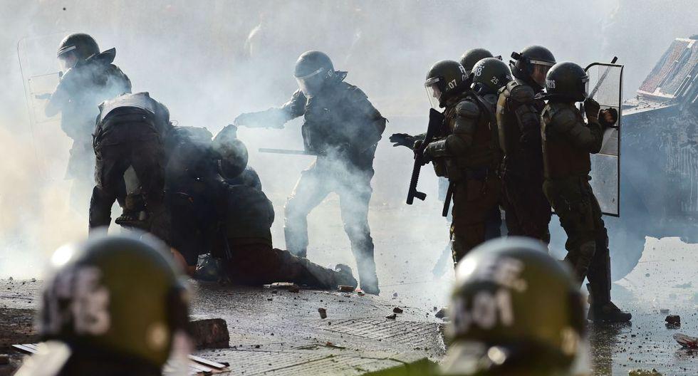 """Según un último informe del Instituto Nacional de Derechos Humanos, unas 182 personas han sufrido """"heridas oculares"""" durante los violentos disturbios que se han producido desde el 18 de octubre. (Foto: AFP)"""