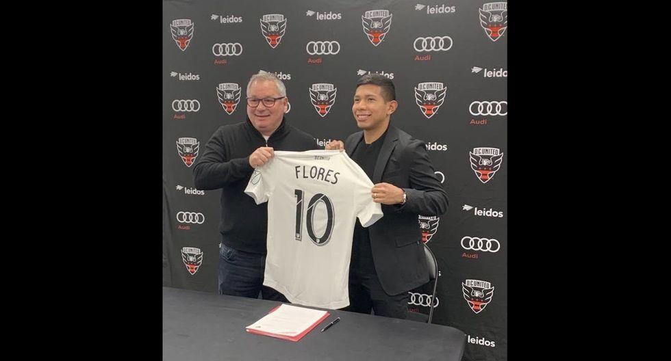 Edison Flores es presentado como nuevo refuerzo en DC United. (Foto: DC United)