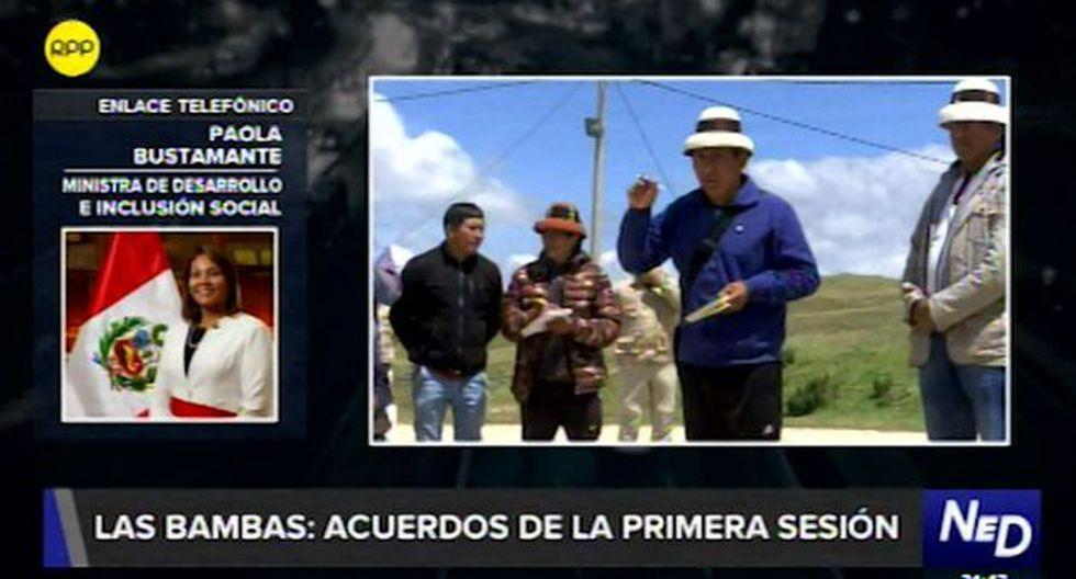 Paola Bustamante informó que en ningún momento hubo alguna restricción en el yacimiento minero. (Foto: Captura RPP)