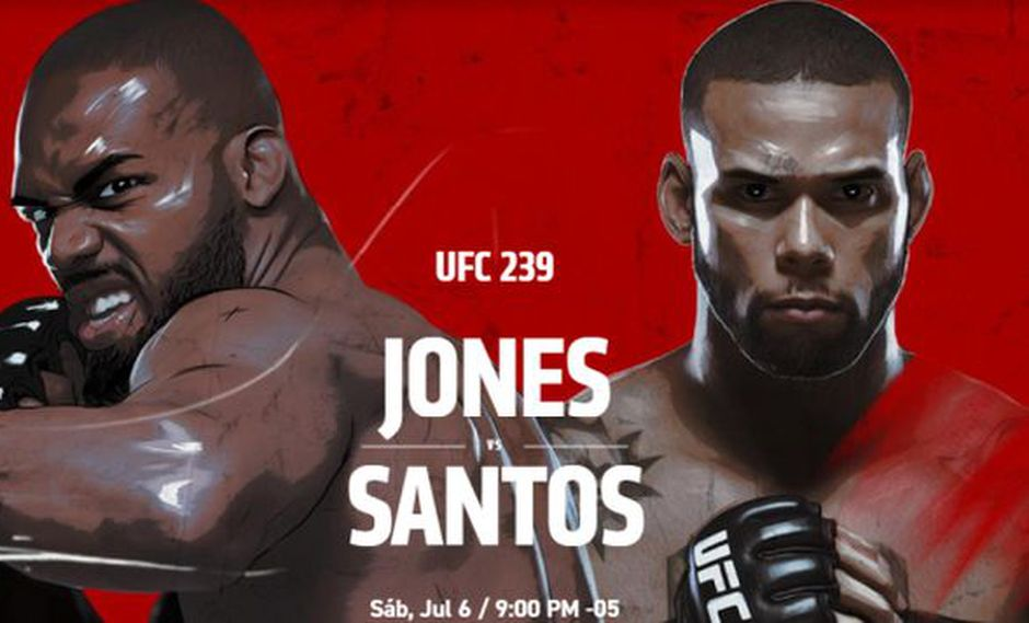 UFC 239 EN VIVO ONLINE: Jones vs. Santos desde Las Vegas vía FOX Action