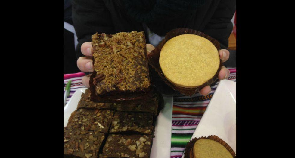 5. Postres: Los riquísimos 'brownies' y alfajores hechos a base de quinua son unos de los favoritos en esta edición. Pueden encontrarlos en el stand de Vive Saludable, a seis soles. (Foto: Stephanie Stanbury)