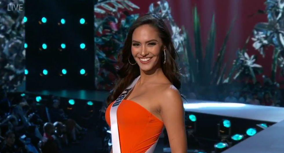 Romina Lozano deslumbró en la competencia preliminar del Miss Universo 2018, en la que se lució en la pasarela en traje de baño y traje de noche. (Foto: Captura de video)