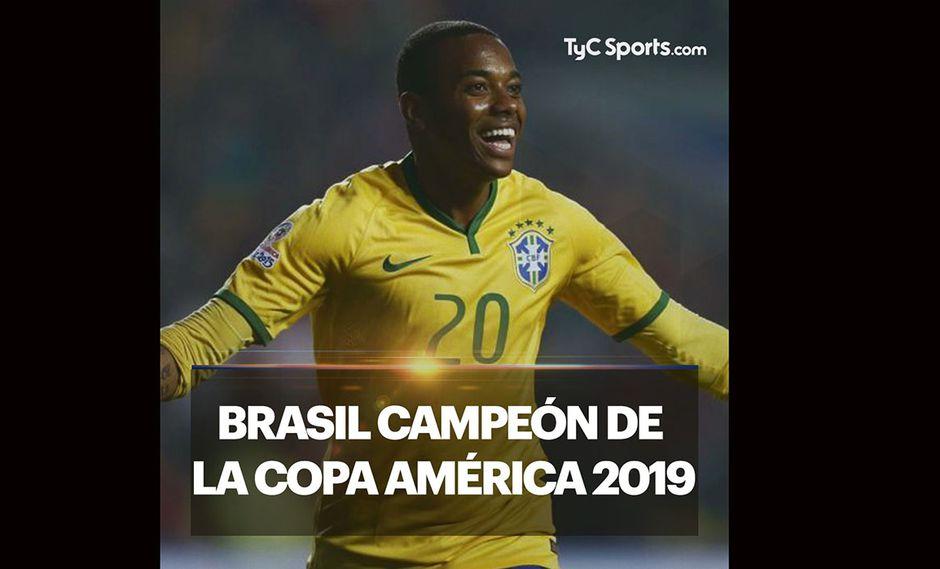 Brasil campeón de la Copa América. Así los felicitó TyC Sports. (Foto: Twitter @TyCSports(