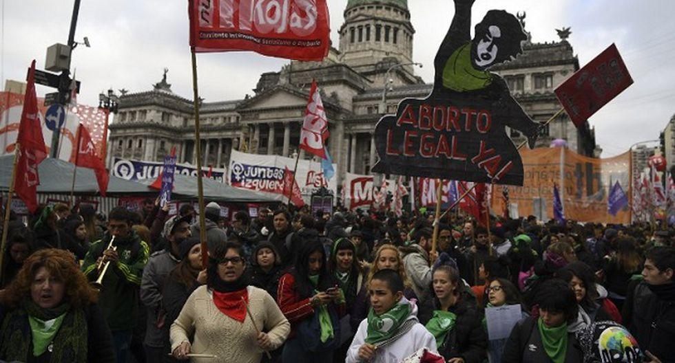Ley de despenalización del aborto se debate en Argentina (Foto: AFP)