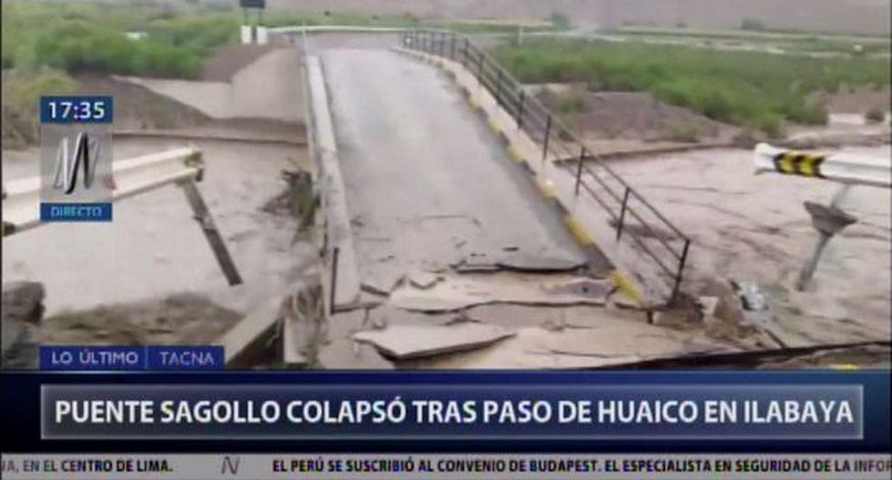 Esta tarde se registró la caída de un huaico en el distrito de Ilabaya en la provincia de Jorge Basadre, en la región de Tacna. (Video: Canal N)