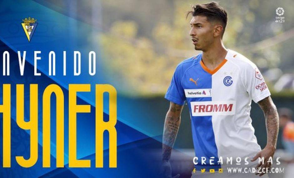 Jean Pierre Rhyner fue anunciado en el Cádiz de España. (Foto: Cádiz FC)