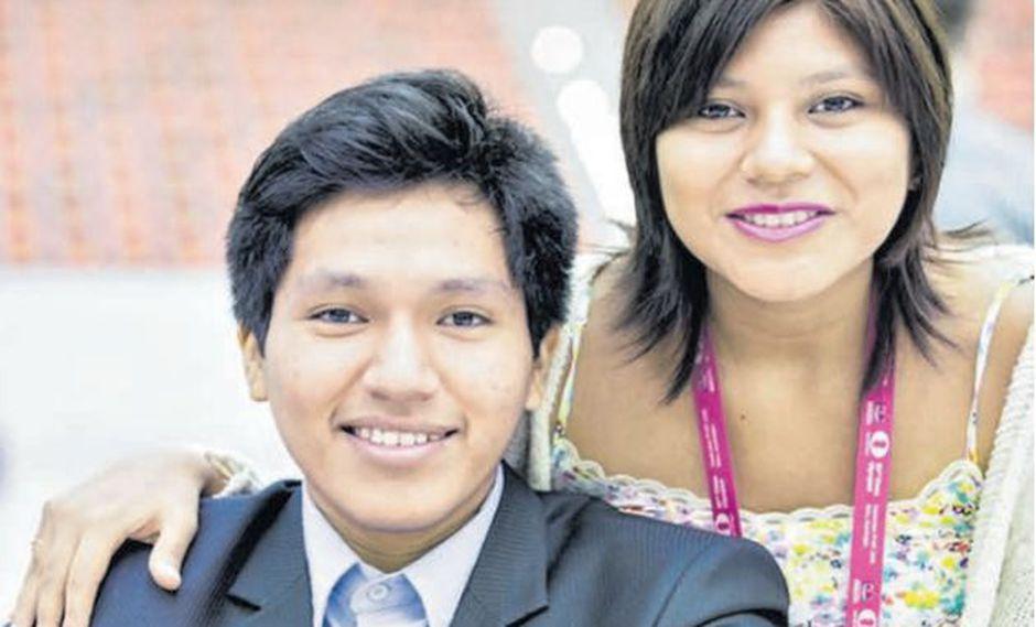 Jorge con su hermana Deysi (23), que en la rama femenina de las Olimpiadas llevó al Perú al puesto 28. / BAKU 2016