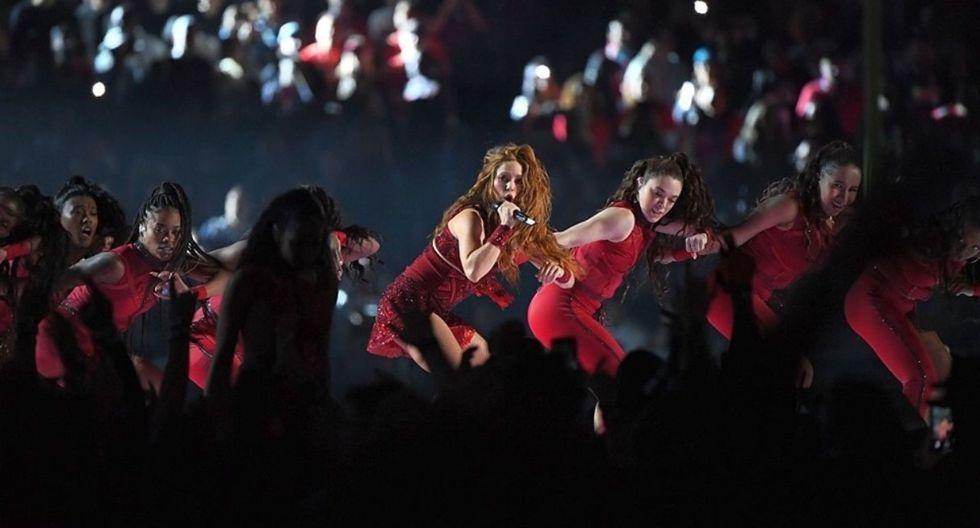 Shakira se presentó en el entretiempo del Super Bowl 2020. (Foto: AFP)