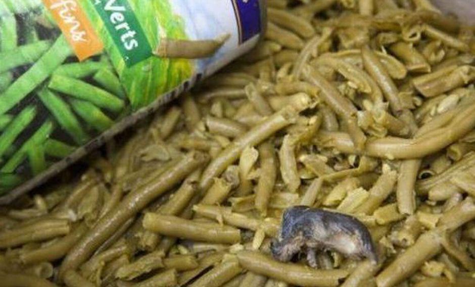 Un ratón muerto encontrado en una lata de frejoles en Francia