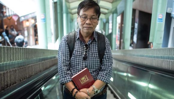 Marrz Balaoro, el pastor filipino transgénero que se atrevió a defender las bodas gay ante una corte de Hong Kong. (AFP)