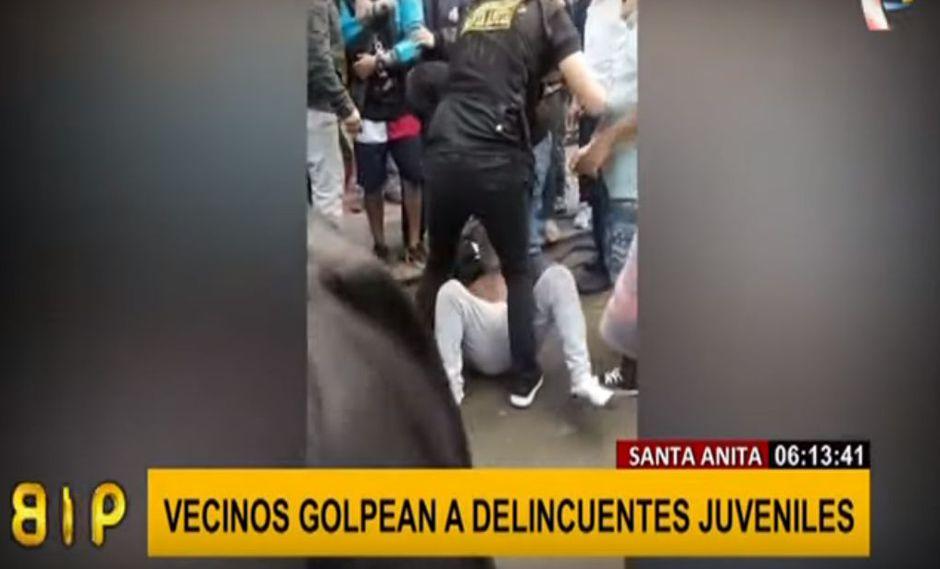 Santa Anita: vecinos atrapan y casi linchan a ladrones que robaron celular   VIDEO