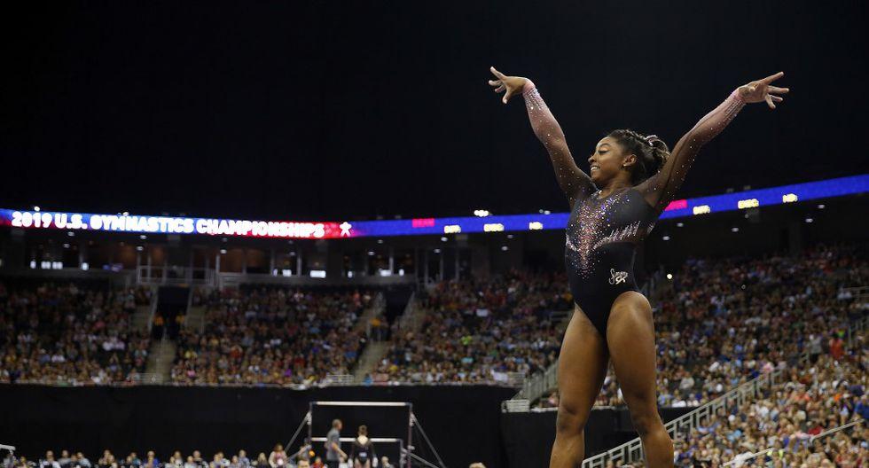 La estadounidense Simone Biles pasó a la historia de la gimnasia con un movimiento increíble jamás visto antes. (Foto: AFP)