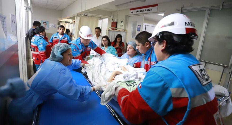 El accidente en Huarochirí dejó 15 heridos. (Foto: Difusión)