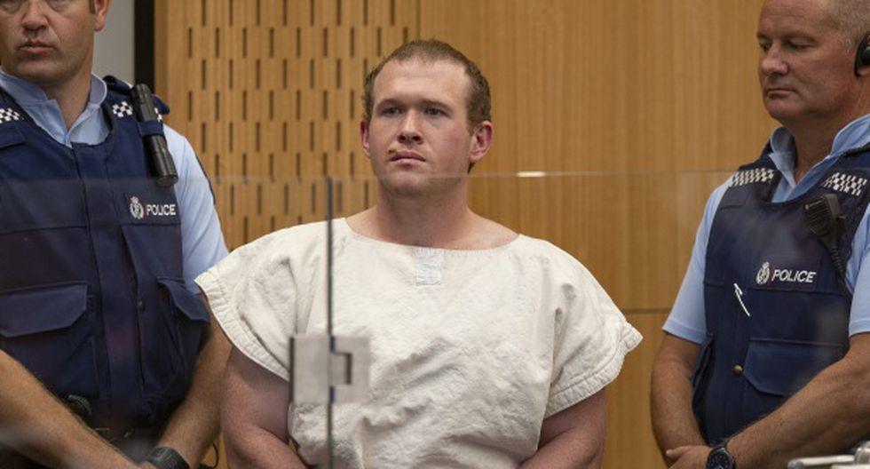 Brenton Tarrant es acusado por la masacre de Christchurch. Se encuentra en el muelle durante su comparecencia en el Tribunal de Distrito de Christchurch acusado de asesinar a tiros a 51 fieles musulmanes. (Foto: AFP)