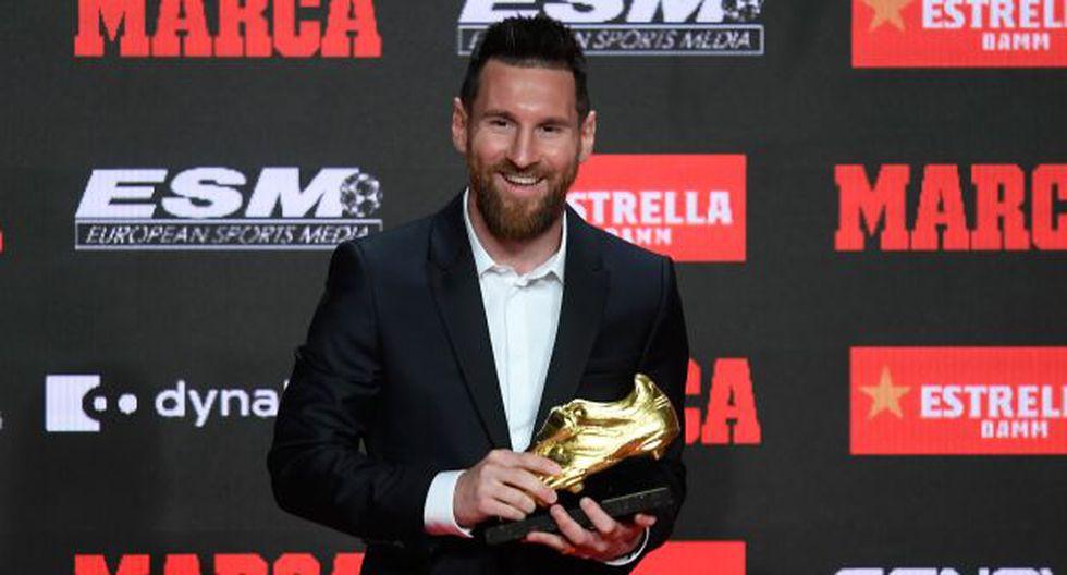 Lionel Messi fue premiado con la Bota de Oro, por sexta vez en su carrera. (Foto: AFP)