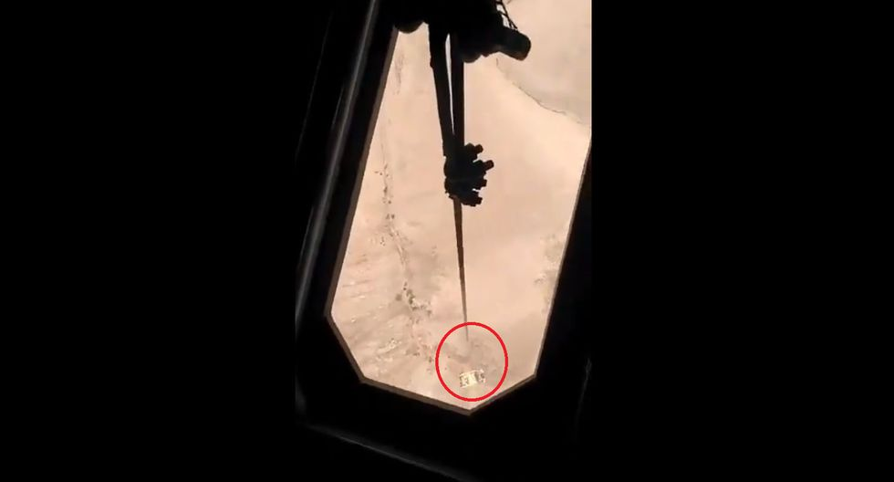 Operación de rescate se llevó a cabo la mañana del 13 de enero. (Captura: Video FAP)