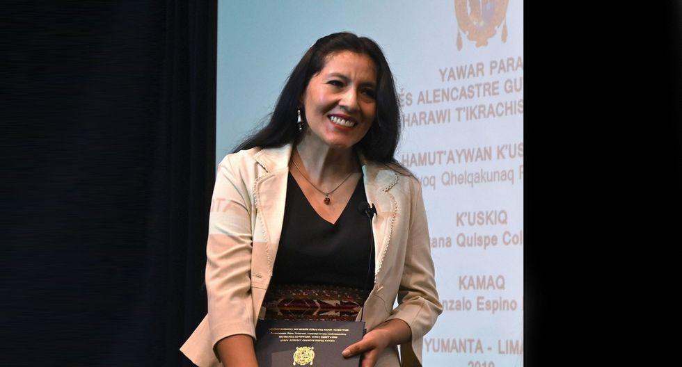 Quispe Collantes es magíster en Lingüística por la Pontificia Universidad Católica del Perú y es docente universitaria. (Foto: AFP)