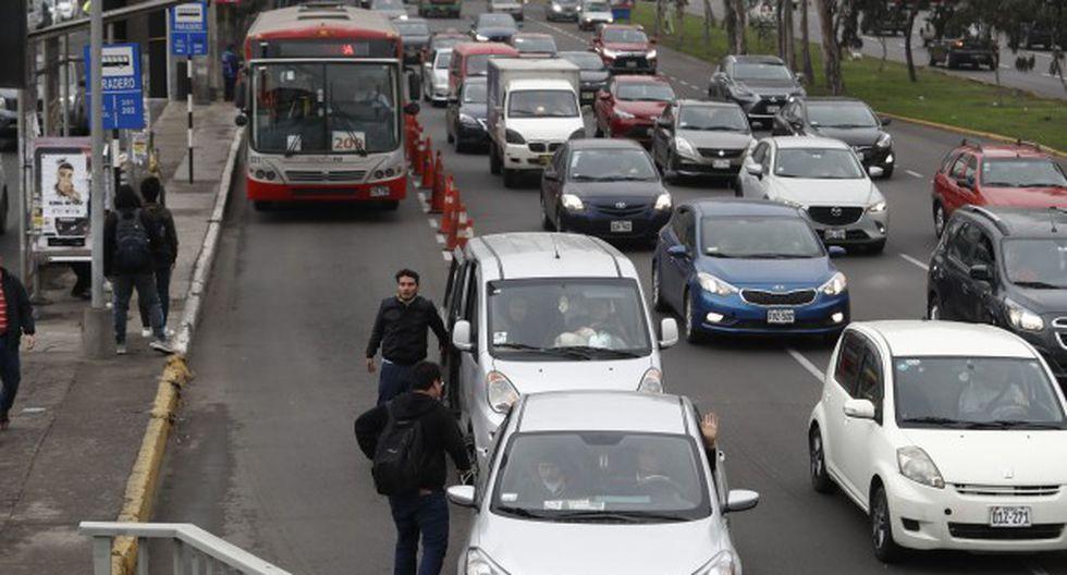 Restricción por placa se implementará en dos etapas en tramos de la Panamericana Norte y Sur, así como en los ejes viales de los corredores rojo, amarillo y azul. (Foto: GEC)