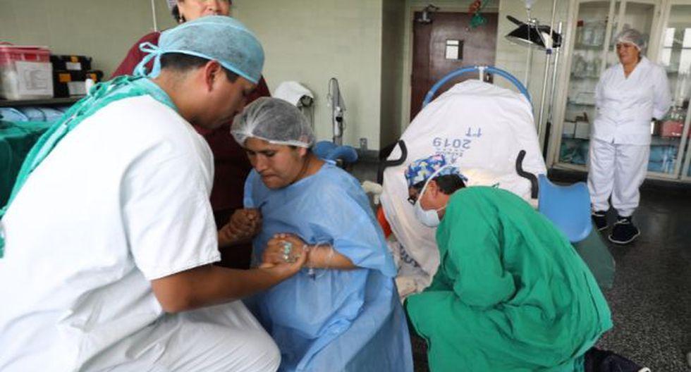 El parto vertical es practicado en el hospital Edgardo Rebagliati de EsSalud. (Difusión)