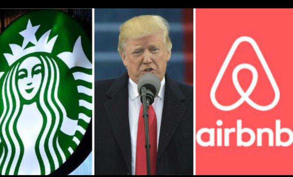 Trump: Starbucks y Airbnb se oponen al decreto antimigratorio