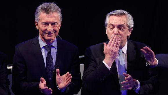 Mauricio Macri y Alberto Fernández tienen las mayores opciones para ganar las elecciones presidenciales en Argentina. (EFE/Juan Ignacio Roncoroni).