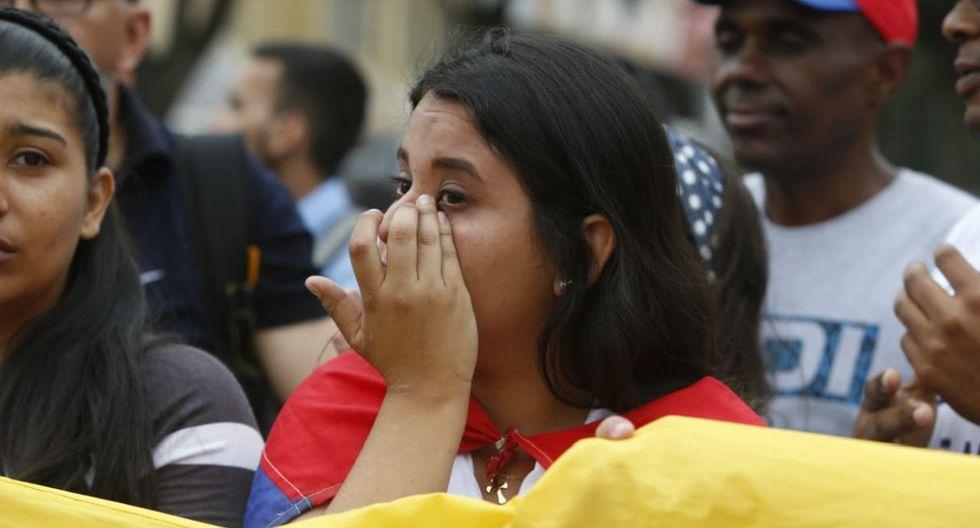 Los venezolanos lamentaron la situación que afronta su país. (Mario Zapata/Grupo El Comercio)