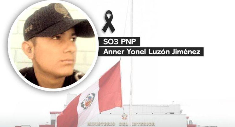 Ministerio del Interior declaró que la familia policial está de luto con la muerte del suboficial Anner Yonel Luzón Jiménez. (Foto: Facebook)