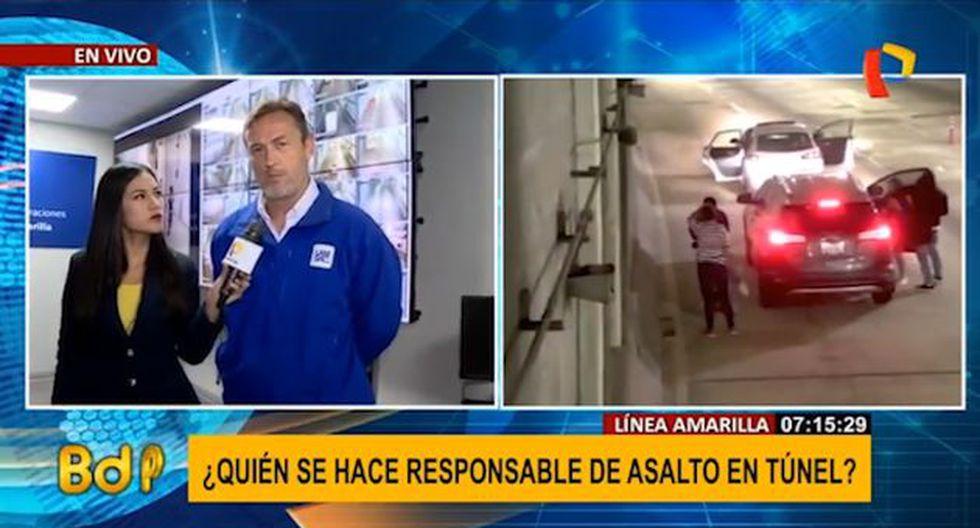 Lamsac se pronunció sobre el asalto ocurrido en el túnel de la Línea Amarilla. (Buenos Días Perú)