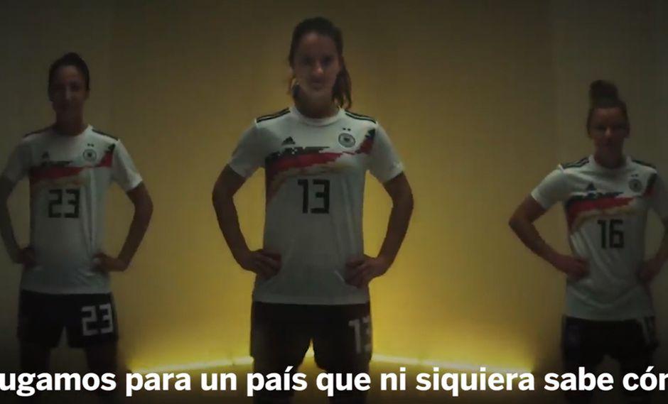 Selección de Alemania de fútbol femenino publicó video de reivindicación previo al Mundial