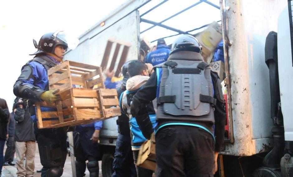 Municipalidad de Lima y San Luis realizan operación para erradicar comercio ambulatorio | FOTOS