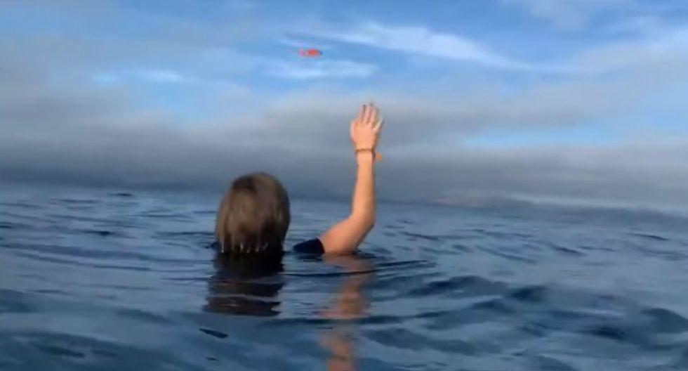 Una avioneta cayó al mar y su piloto grabó su rescate desde el agua. (Foto: Captura)