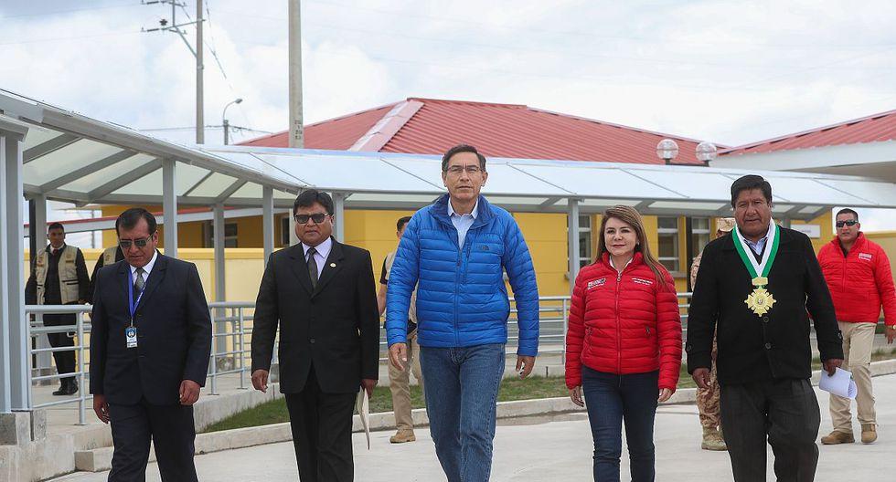 El presidente Martín Vizcarra declaró durante una inspección a un hospital en Puno. (Foto: Difusión)