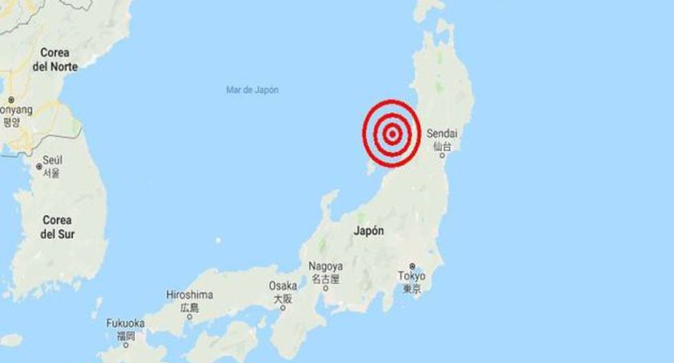 El movimiento sísmico tuvo lugar cerca de la región de Niigata. (Captura)
