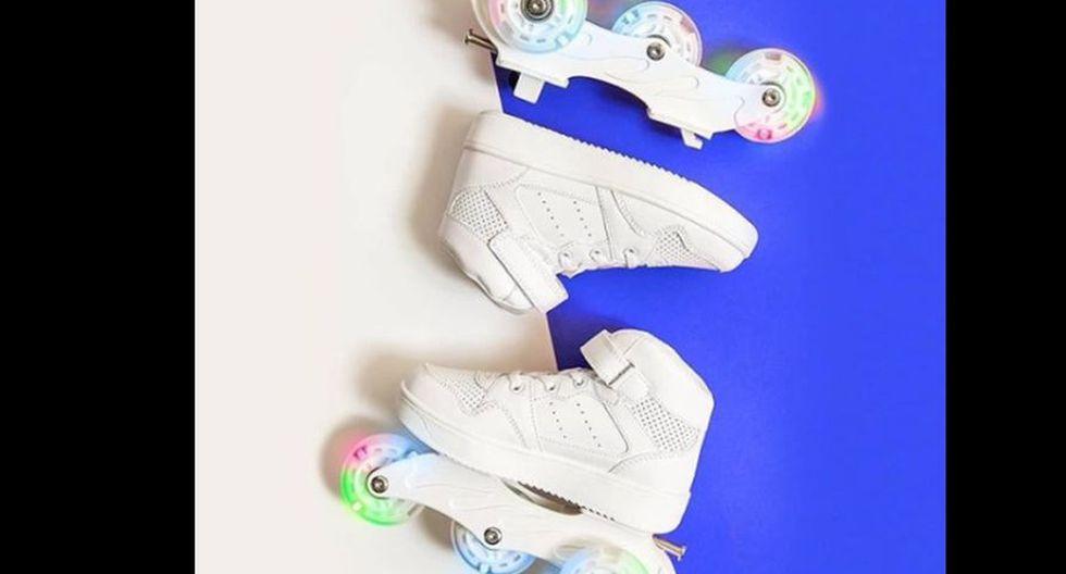 Zapatillas con ruedas desmontables.