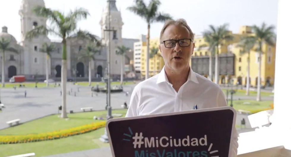 El alcalde Jorge Muñoz lanzó la campaña 'Mi Ciudad, Mis Valores' en busca de cambiar la imagen de Lima (Captura: Twitter @MuniLima)