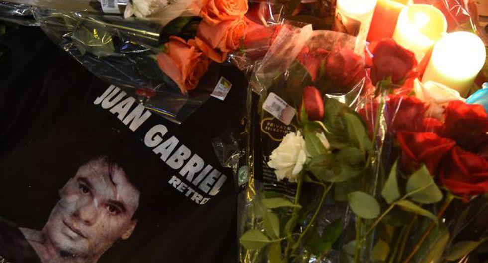 Así luce la estrella de Juan Gabriel en el Paseo de la Fama de Hollywood. (AFP)