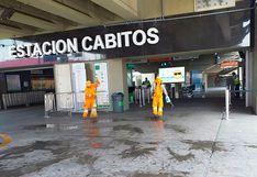 Intensifican limpieza en espacios públicos de Surco y estaciones del Metro de Lima
