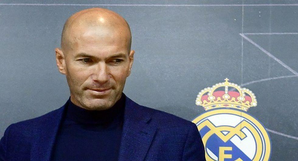 Zinedine Zidane se despide del Real Madrid (Foto: AFP)