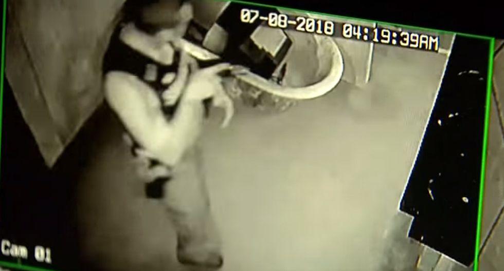 ¿Será este uno de los ladrones más desafortunados de la historia? (Foto: YouTube)