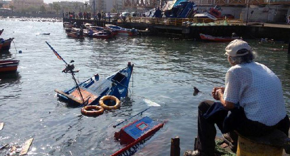 Costa inundada de Iquique. (Foto: AFP)