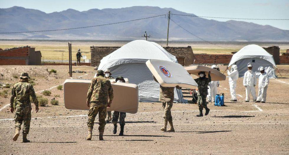 El ministro López indicó además que la administración del campamento estará a cargo de organismos internacionales, según lo establecen los protocolos correspondientes. (EFE/Emilio Huascar Castillo).