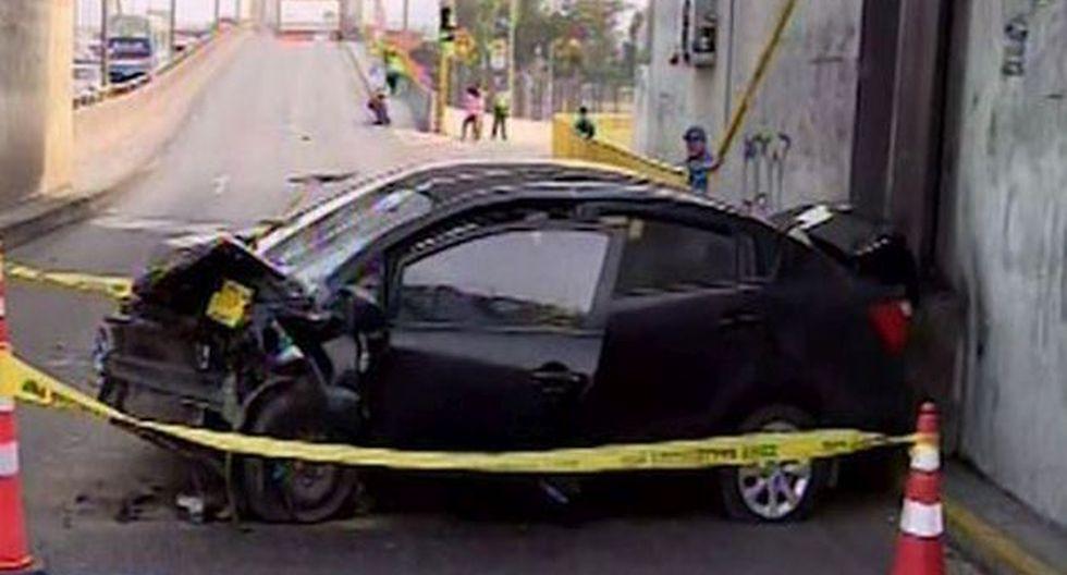 De acuerdo a las autoridades, no tenía puesto el cinturón de seguridad. (Foto: Captura/Canal N)