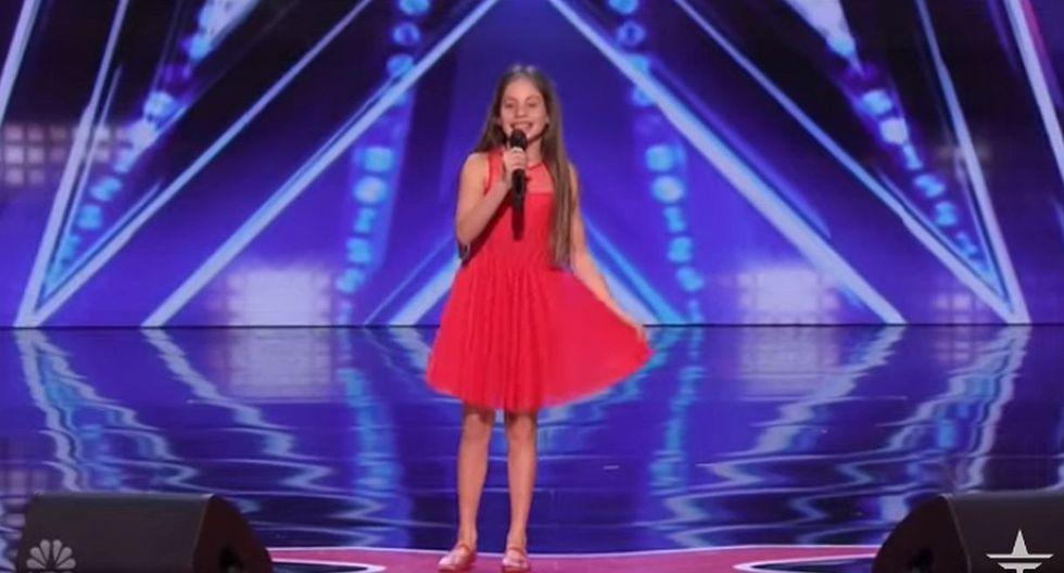 Emanne Beasha se presentó con un vestido rojo y contando que tenía dos hermanos y su papá posee una tienda de helados. (Foto: captura YouTube)